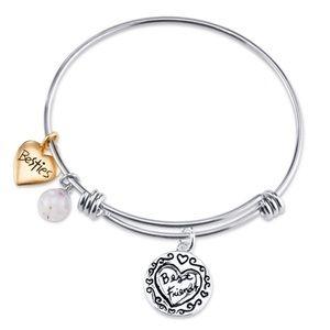 Jewelry - NWT Stainless Steel Best Friends Bracelet